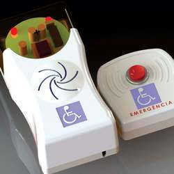 Alarme audiovisual para banheiro de deficientes