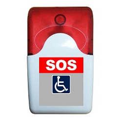 Alarmes audiovisual para banheiro de deficientes