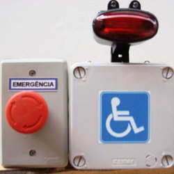 Alarme audiovisual para banheiro